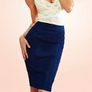 Body by Victoria pencil skirt tan